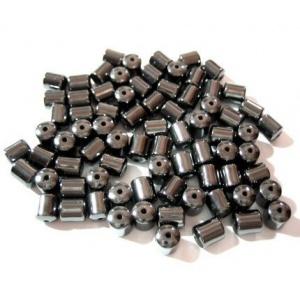 korálek, Hematit, oválek, 5x3 mm