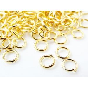 kroužky, jednoduchý, barva stříbrná, velikost 8 mm
