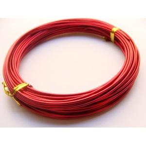 měděný drát, síla 1,5 mm, barva červená, 1 m
