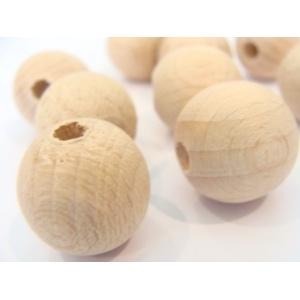 dřevěné surové korále, kulaté
