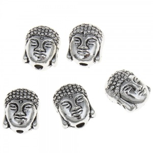 Buddha korálek, 8x10x7.50mm, kov