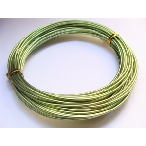 hliníkový drát, síla 1,5 mm, barva zelená, 1 m