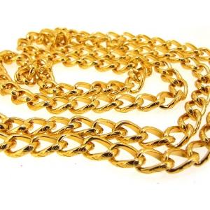 řetízek, barva zlatá, 100 cm, očka 4 mm