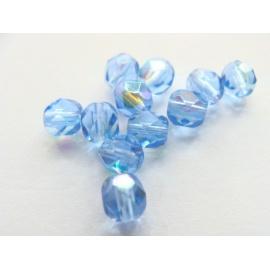broušené perle, barva, 4 mm