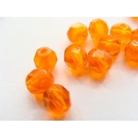 broušené perle, barva, 6 mm
