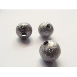 korálek, barva stříbřitě černá, 8 mm, vysoký lesk