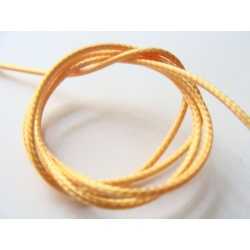 voskovaná šňůra, barva oranžová, šířka 1 mm