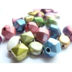 Mix korálků barev a tvarů, cca 7-10 mm
