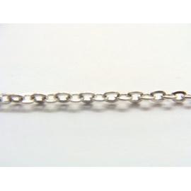 řetízek, barva stříbrná, 100 cm, očka 4 mm