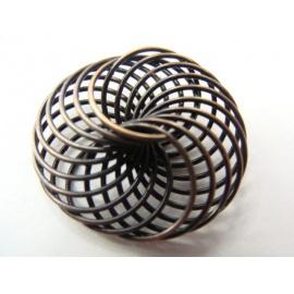 kovový korálek, drátek, 25x10 mm