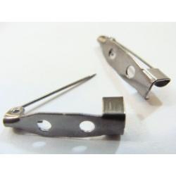brožový špendlík, barva stříbrná, délka 20 mm