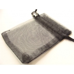 pytlíček, organza, barva černá, 85x65 mm