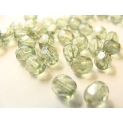 broušené perle, barva, 5 mm