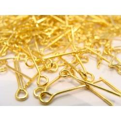 očkové jehly zlaté 38 mm