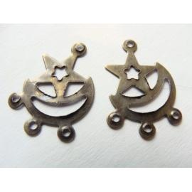 naušnicový závěs, lehký kov, 18x12 mm