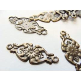 naušnic.a náhrdel. spojky, lehký kov,21x8 mm