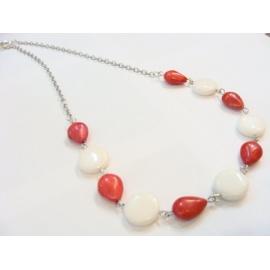 HOWLIT+NEFRIT, souprava náhrdelník, naušnice