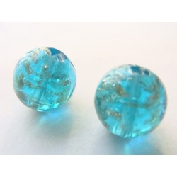 vinutá perle, 11 mm, kulatá, barva, zapečena práškem ze 14 kt zlata