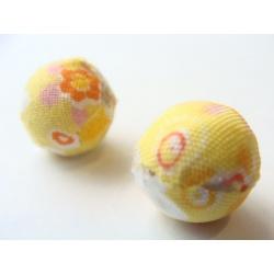 korálek, potažený látkou, 15 mm, barva