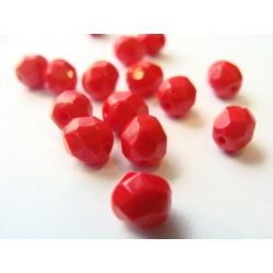 broušené perle, barva , 6 mm