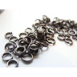 kroužky, jednoduchý, barva černá, velikost  3 mm