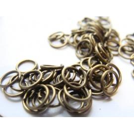 kroužky, jednoduchý, barva bronz, velikost  6x0.7 mm