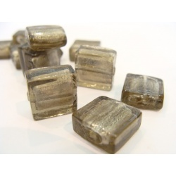 vinutá perle kostička zabarvené sklo tyrkysová