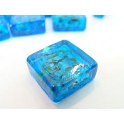 vinutá perle kostička zabarvené sklo s barevným žíháním