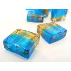 vinutá perle kostička dvoubarevé sklo