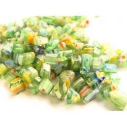 korálky, skleněné Millefiori, 4-7 mm