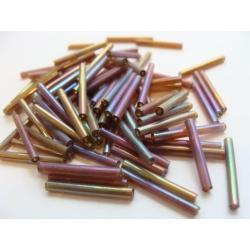 korálek, trubička, barva, 6x1,5 mm