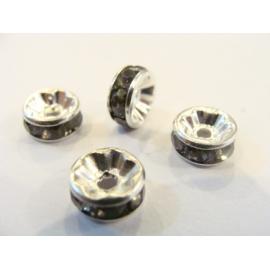 korálek, rondelka, 8 mm, šedivá