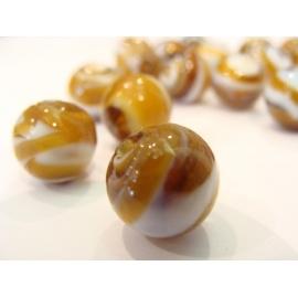 vinutá perla, dvoubarená,dvoubarevně vinuté