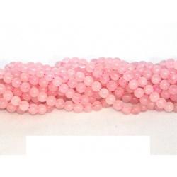 korálek, Růženín, 8 mm, facetovaný