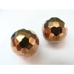 řezaná koule, celozdobena zlatým kovem