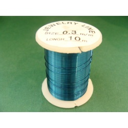 měděný drátek, síla 0,3 mm, barva, délka 10 m