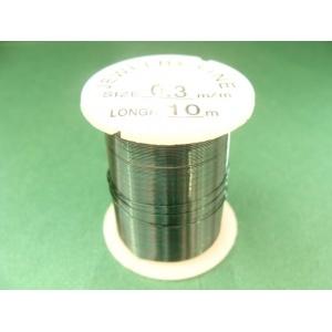 měděný drátek, síla 0,3 mm, barva tmavě zelená, délka 10 m