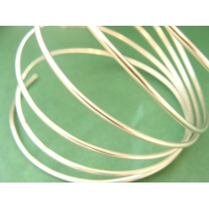 hliníkový drát, síla 2 mm, barva stříbrná, 1 m