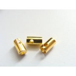 látková koncovka, barva zlatý kov, kulatá, krytá