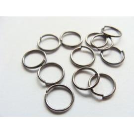 kroužky, jednoduchý, barva černá, velikost 6 mm