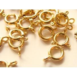 pérové zapínání zlaté 5 mm