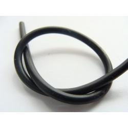 kaučuková gumička, barva černá, 1,5 mm