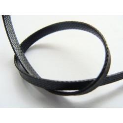 voskovaná šňůra, barva černá, 3,5 mm