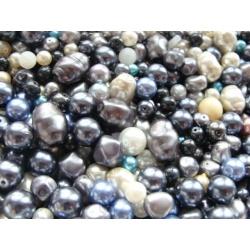 voskové perly-mix, barva, od 4-20 mm
