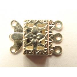víceřadé zapínání stříbro 15 mm
