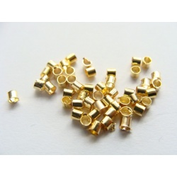 zamačkávací rokajl, barva zlatá, velikost 2 mm
