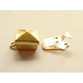 víceřadé zapínání zlaté 15 mm