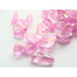 skleněné zlomky, barva růžová, 10 g, cca 50 ks