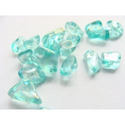 skleněné zlomky, barva, 10 g, cca 50 ks