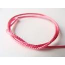 voskovaná šňůra, barva ostře růžová, šířka 1 mm